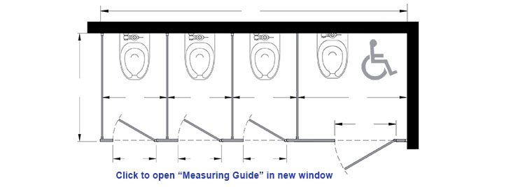 standard dimensions of a toilet.  How To Measure Dimensions for Toilet Stalls GrabbarsOnline